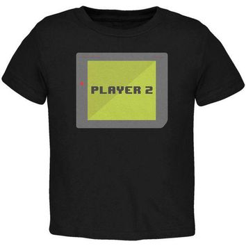 PEAPGQ9 Halloween Old School Gamer Player 2 Toddler T Shirt