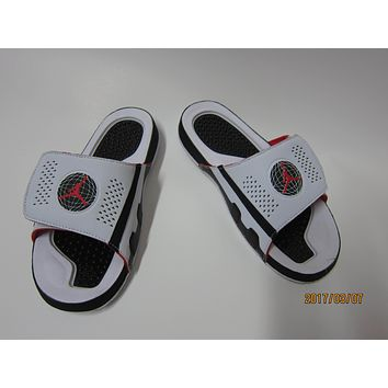 Nike Jordan Hydro IX White Black Red Sandals Slipper Shoes Size US 7-13