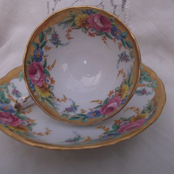 Gorgeous Tuscan China cabinet cup and saucer.  Ideal , Anniversary or Birthday Gift