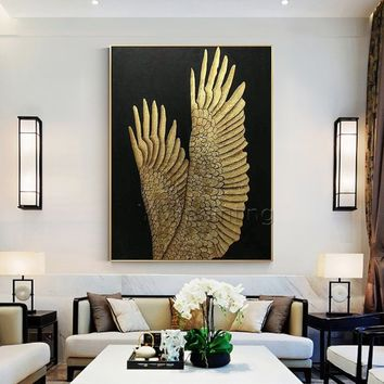 Gold foil Painting Modern art Abstract original painting on canvas heavy texture extra Large Wall Art Pictures home decor cuadros abstractos