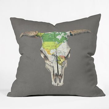 Terry Fan Go West Throw Pillow