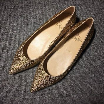 ONETOW Cl Christian Louboutin Flat Style #723