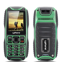 Uphone U3A Waterproof Rugged Phone - IP67 Rating, Rear Camera, Dual SIM Card Support, Micro SD Card Slot (Green)