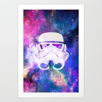 Stormtrooper Galaxy Art Print by The Backwater Co