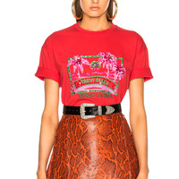 Fendi Trevi Falls Embellished Graphic Tee in Red | FWRD