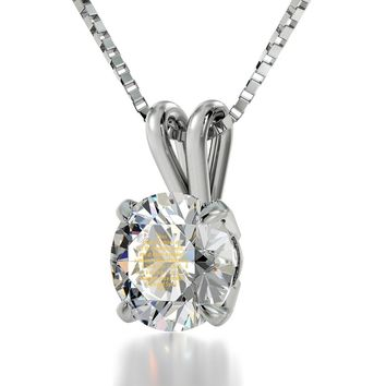 """Diamond Sutra"", 925 Sterling Silver Necklace, Swarovski"