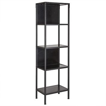 Tiverton Collection Industrial Style Bookshelf in Dark Ash