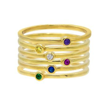 Stackable Bezel Ring Set