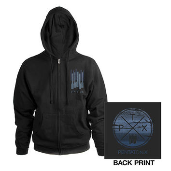 Pentatonix Official Store | Pentatonix Circle Logo Zip Hoodie