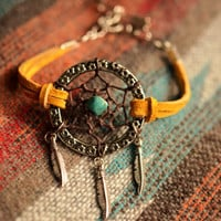 NEW Color Gold Suede Dreamcatcher Made to Order Bracelet or Anklet