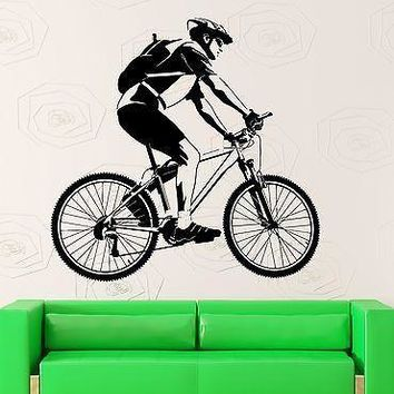 Wall Sticker Vinyl Decal Bicycle Sport Bike Race Great Room Decor Unique Gift (ig2207)