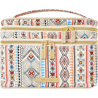 Tartan + Twine Vibrant Tribal Double Zip Train Case
