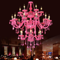 Villa Lobby Luxury Double Layer Crystal Chandelier Hotel Hall Light Large Crystal Chandelier Candle Light For Hotel Project