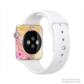 The Yellow & Pink Flowerland Full-Body Skin Kit for the Apple Watch