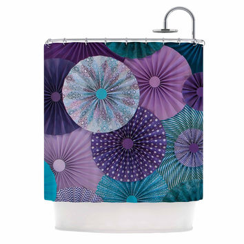 "Heidi Jennings ""Amethyst Glacier"" Teal Purple Shower Curtain"