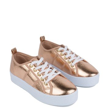 Flatform Sneakers in Rose Gold