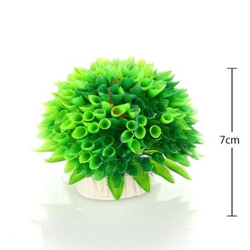 2016 Fish Tank Aquarium Decor Green Artificial Plastic Underwater Grass Plants Coral aquarium accessories Decoration for aquariu