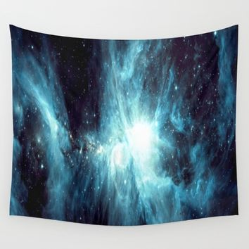 Orion Nebula Teal  Wall Tapestry by GalaxyDreams