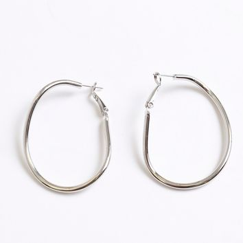 Looped and Hooped Earring Silver