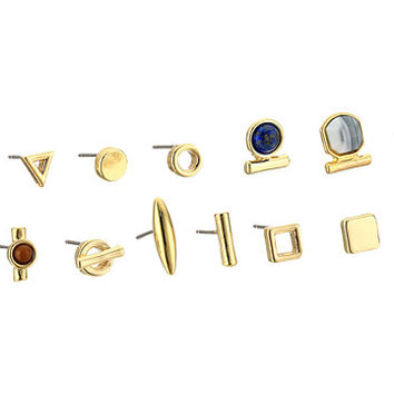 French Connection Single Stud 15 Stud Earrings Set Gold Multi - Zappos.com Free Shipping BOTH Ways