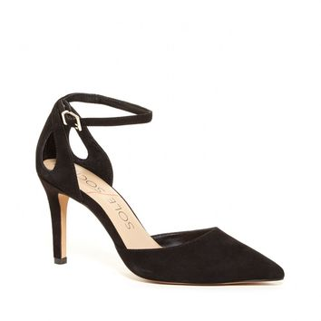 Sole Society Cadena Pointed Toe Suede Heel