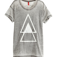 T-shirt with Burnout Pattern - from H&M