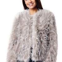 Ostrich Faux Fur Jacket | Womens Faux Fur Jackets- Donna Salyers Fabulous Furs