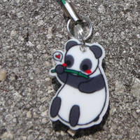 Cute Panda 1 Charm by CandyOctopus on Etsy