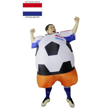 Netherlands Holland Soccer Player Halloween Costume Adult Football Costume for Men Women Unisex Party Bar Club Cosplay Clothing