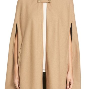 Wayf Collarless Woven Cape | Nordstrom