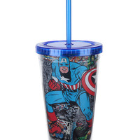 Marvel Captain America Comics Acrylic Travel Cup