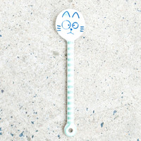Cat Spoon Striped Spearmint