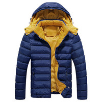Men Hooded Quilted Puffa Jacket
