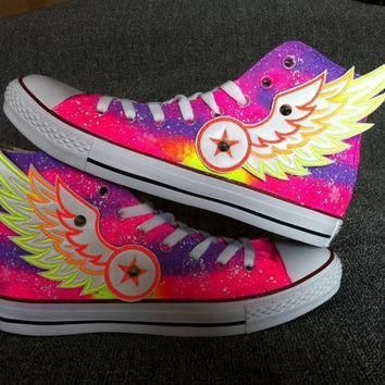 galaxy custom converse with wings galaxy converse sneakers hand painted on converse s