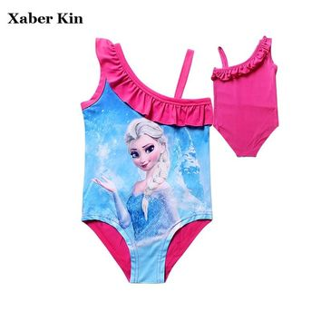 ad552f9f8 4-12 Years Girls Elsa Swimsuit Kids Girls Beachwear Summer Swimw