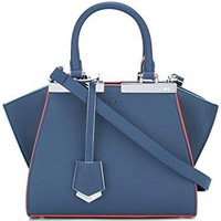 Fendi Women's 8BH3335QTF04QL Blue Leather Handbag