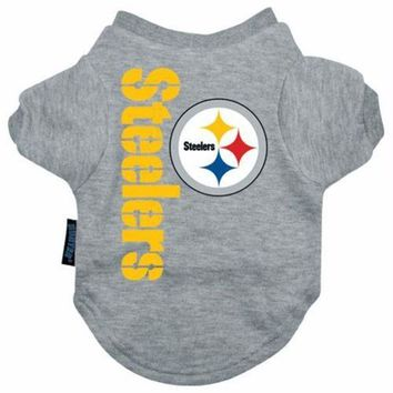 DCCKT9W Pittsburgh Steelers Dog Tee Shirt