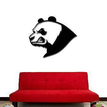 Wall Stickers Vinyl Decal Angry Panda Bear Funny Animal Decor Unique Gift (z1875)
