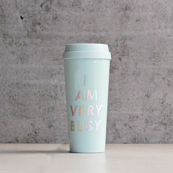 ban.do - hot stuff thermal mug - i am very busy - ice blue