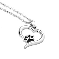 Paw & Heart Pendant Necklace