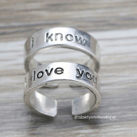 I know I love you Set Ring
