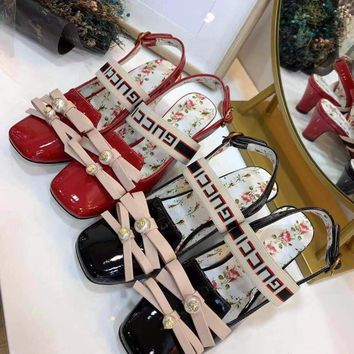 GUCCI Ladies'high heels with bows