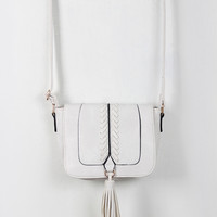 Vegan Leather Cross Body Tassel Bag