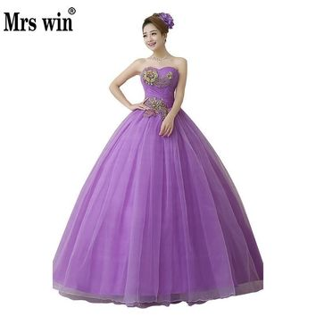 Quinceanera Dresses 2018 New Arrival Engerla Floor-length Ball Gown Off The Shoulder Lace Junoesque Gorgeous Ball Gown For Prom