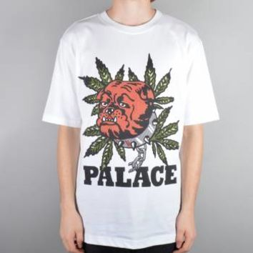 Palace Skateboards Bulldog Skate T-Shirt - White - Palace Skateboards from Native Skate Store UK