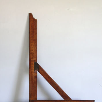 antique wooden framing square / carpenters tool,