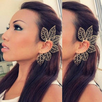 Leaf Ear Cuff by AmberJoCo on Etsy