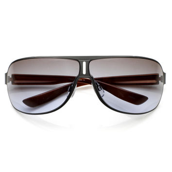 Premium European Mens Square Aviator Sunglasses 8748