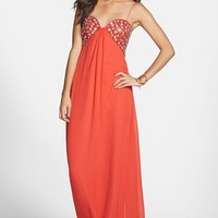 Hailey Logan Embellished Empire Waist Gown (Juniors) (Online Only)