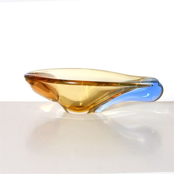 Murano Glass Bowl in Amber